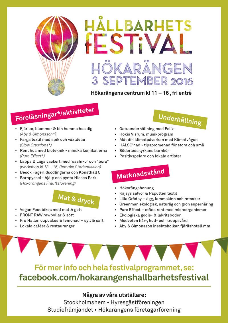 Hökarängens Hållbarhetsfestival 2016